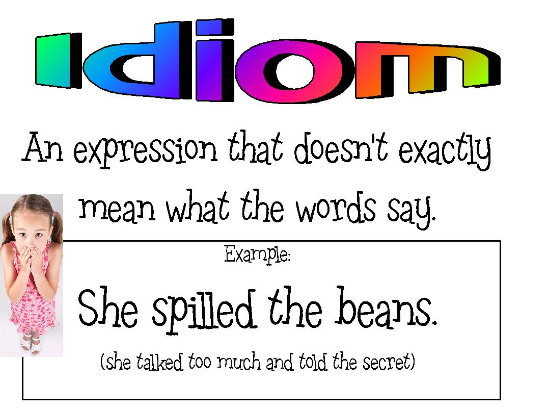 an idiom An idiom is a combination of words that has a figurative meaning, due to its common usage an idiom's figurative meaning is separate from the literal meaning or definition of the words of which it is made.