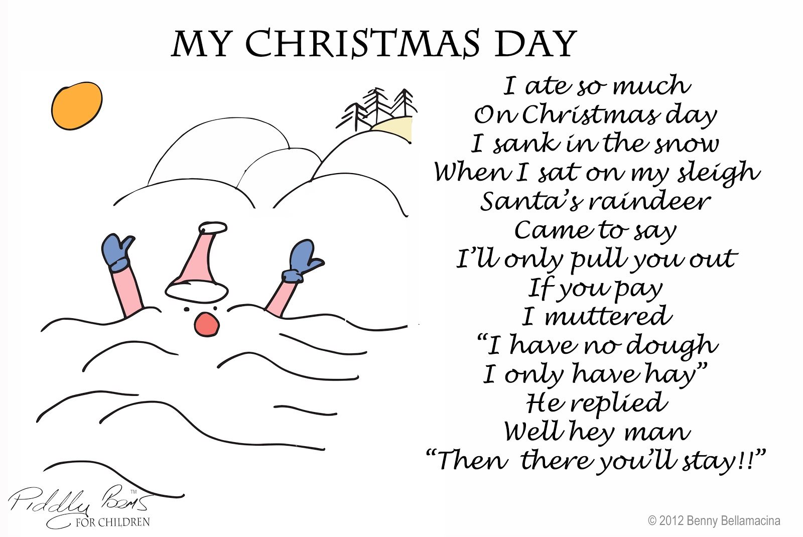 Child Christmas Poetry.Short Rhyming Poems