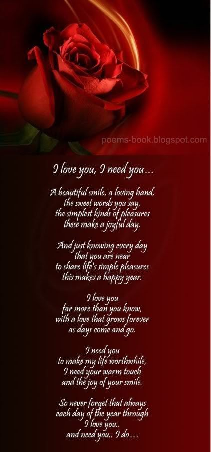I Love You Baby Poems
