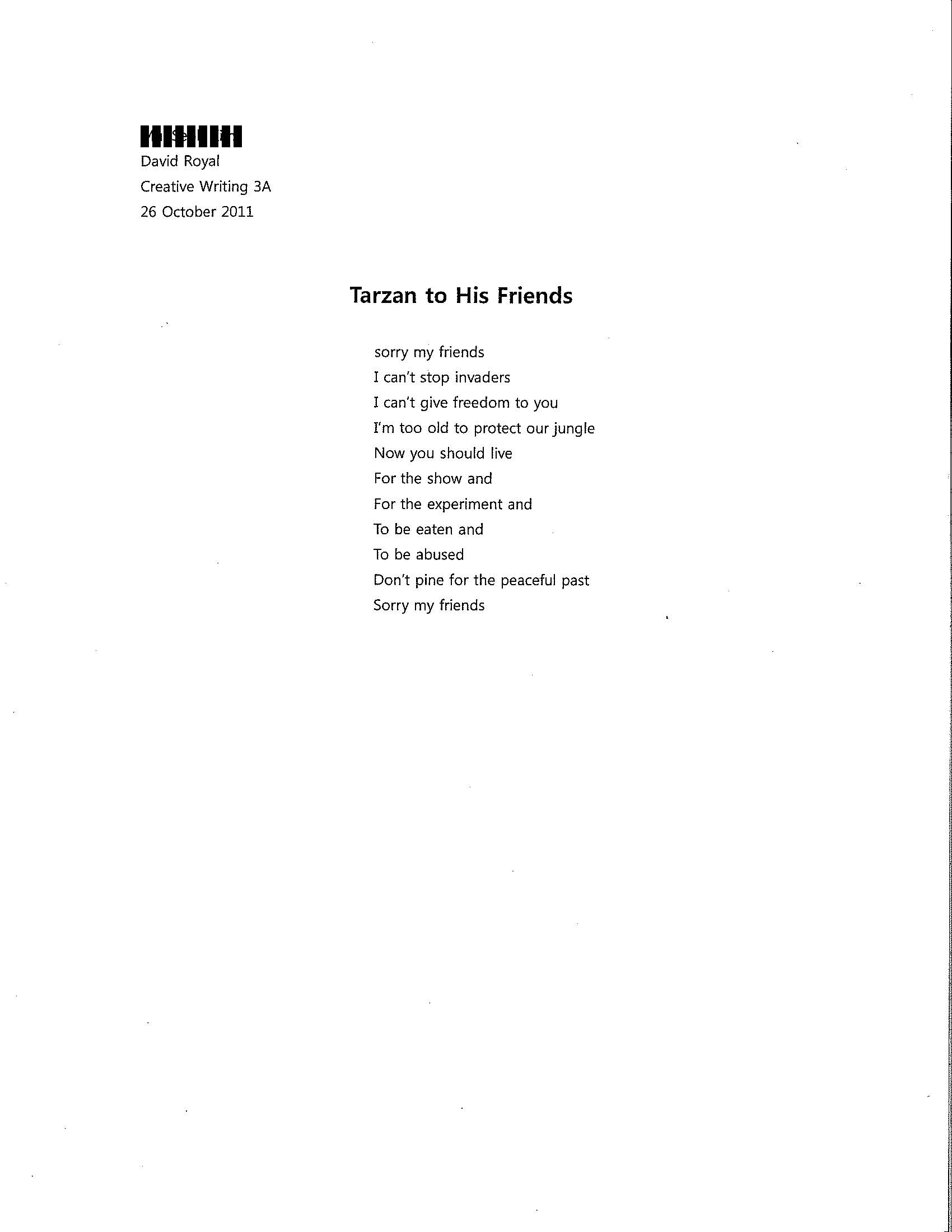 format for poems