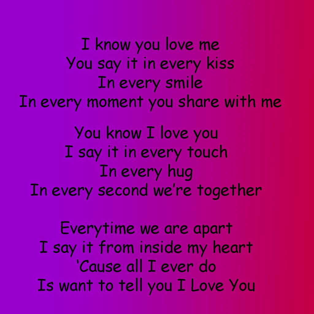i love you short poems