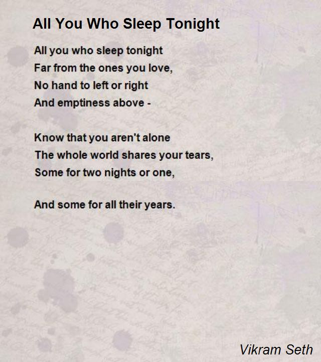going to bed poem