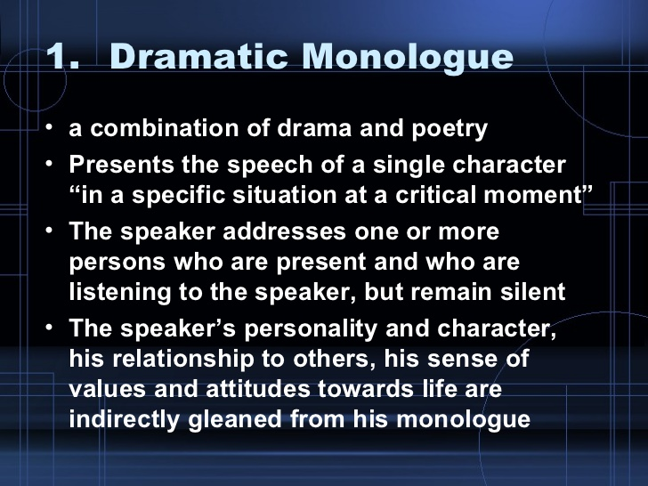 Dramatic monologue poems | www. Topsimages. Com.