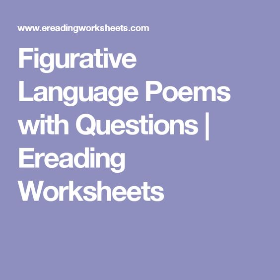 Figurative language in Poems