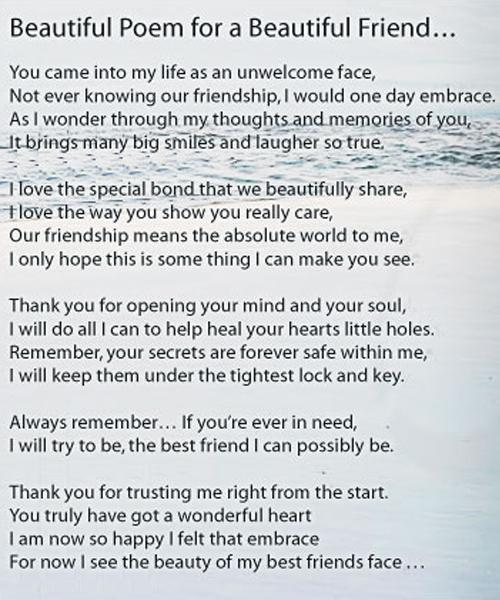 poems to show you care about her