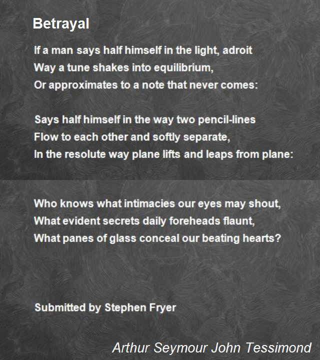 Betrayal Poems
