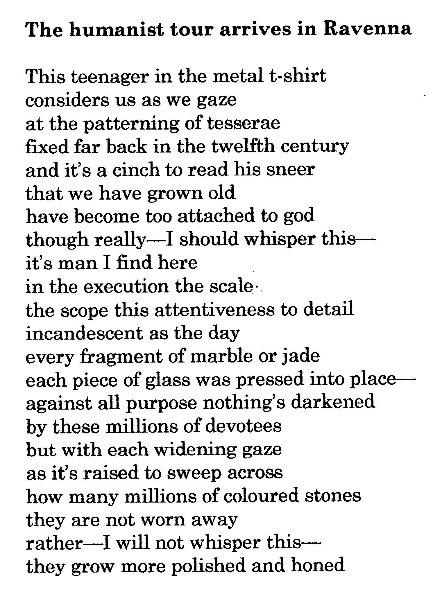 Humanist Poems