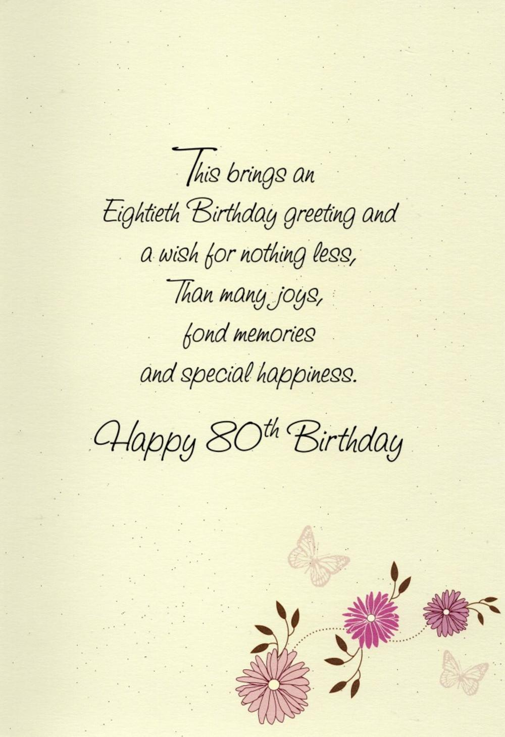 80 Birthday Poems