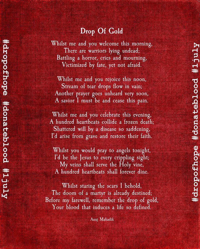 Donation Poems