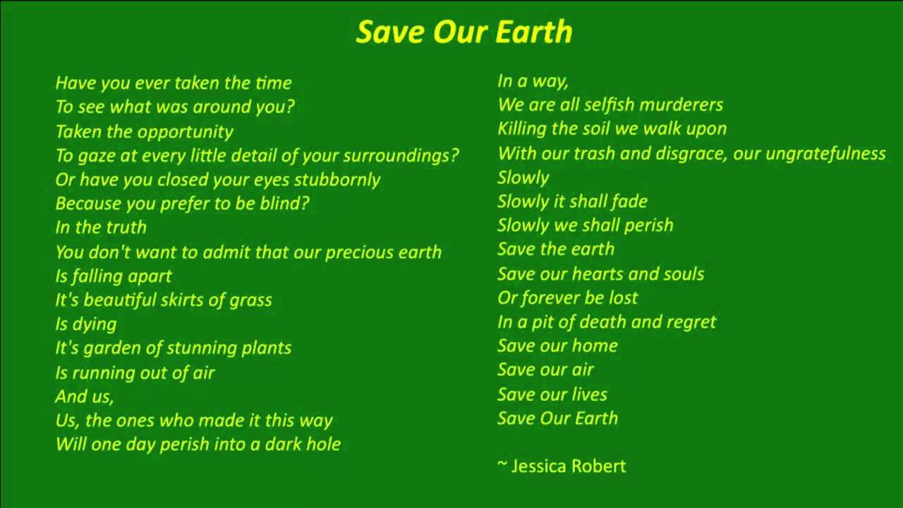 Enviroment Poems
