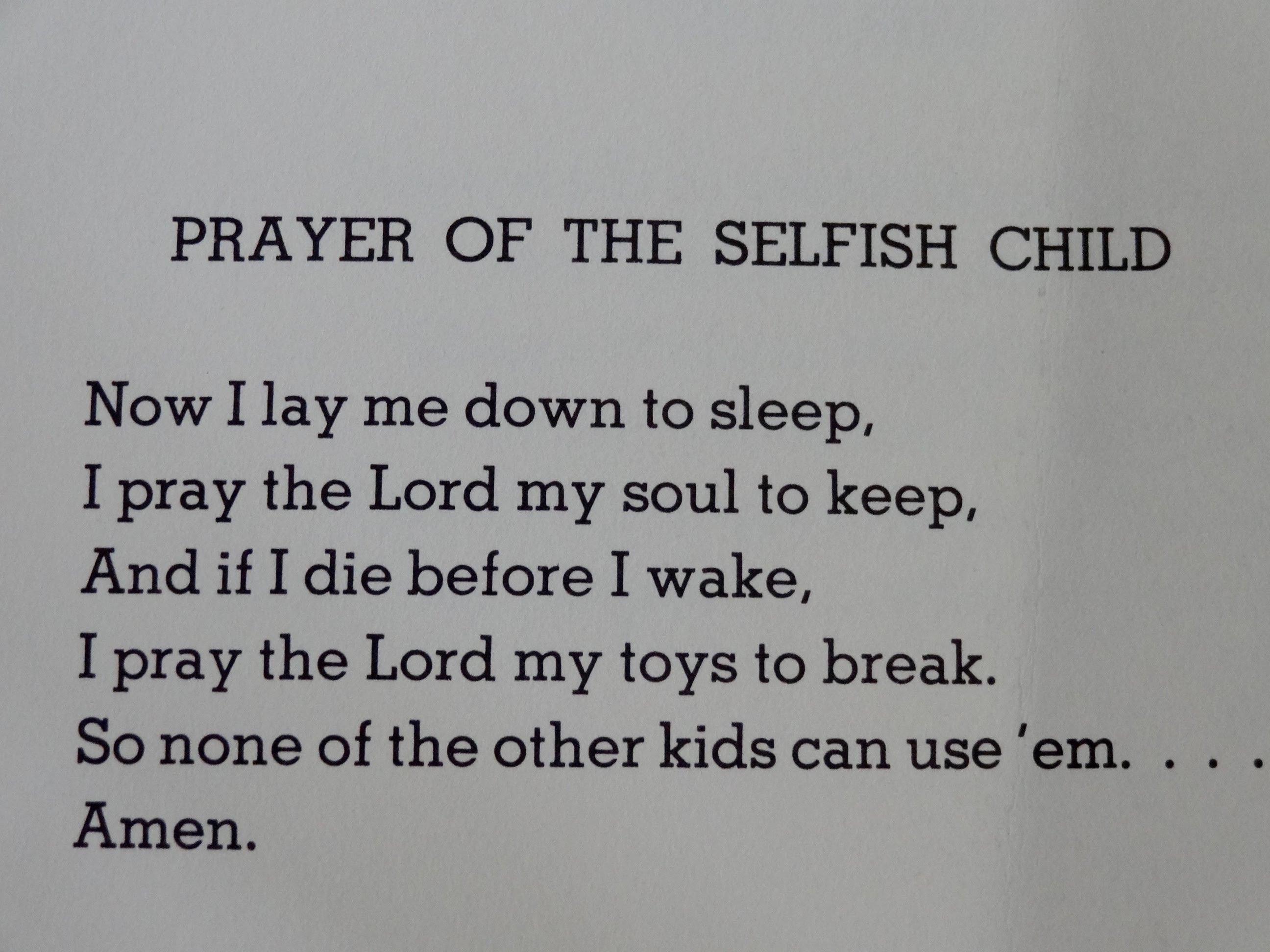selfishness poems