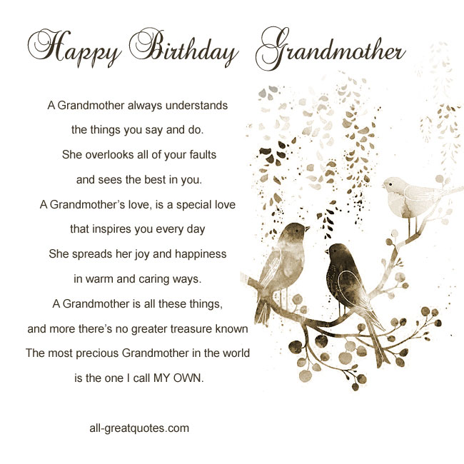 Happy Birthday Grandma Poems