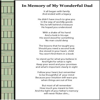 funeral speech for father