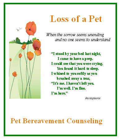 Pet Bereavement Poems