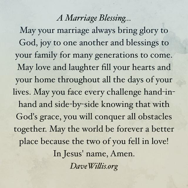 Wedding blessings Poems