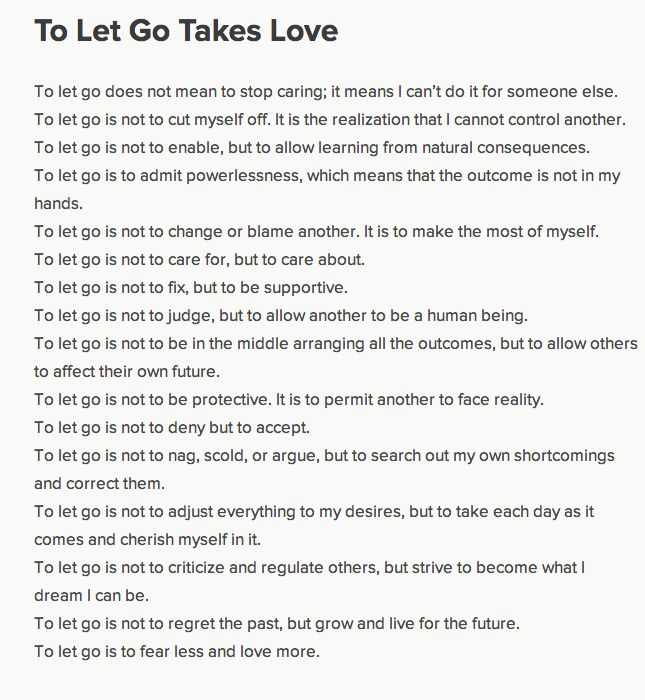 poem letting go of love