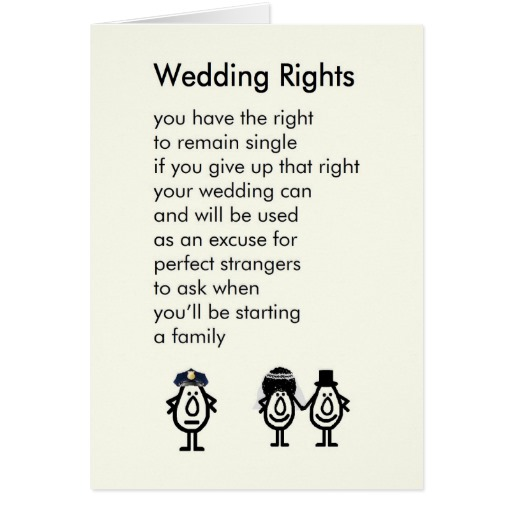 Wedding Poems Funny Short
