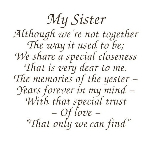 My Sister Poems
