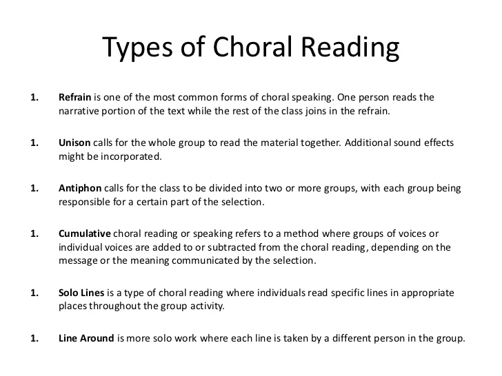 choral speaking texts Anonymous said salam may i use this for my student's show i dont have enough time right now heeee maybe i will edit it here n there a little bit thanks in advance.