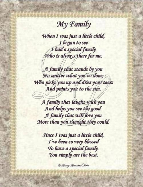 My Family Poems