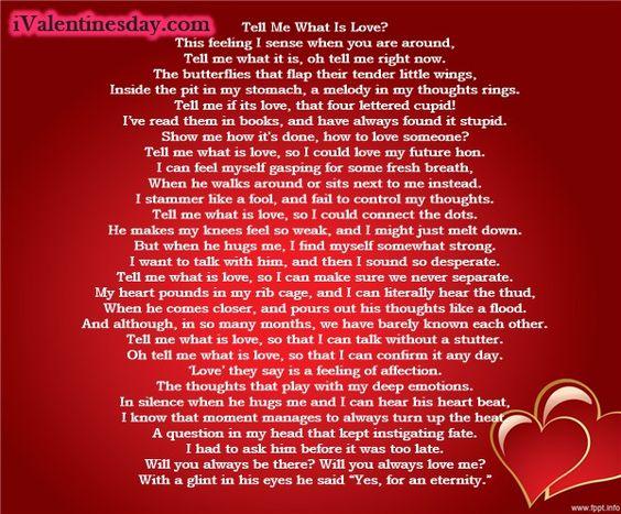 Valentime Poems
