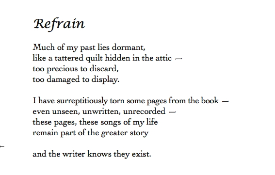 Examples Of Refrain In Poetry Youtube