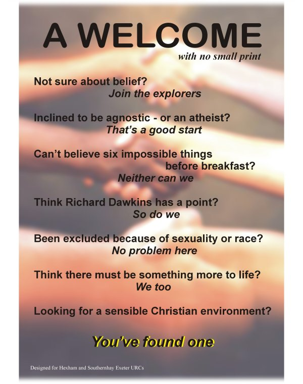 Church welcome Poems