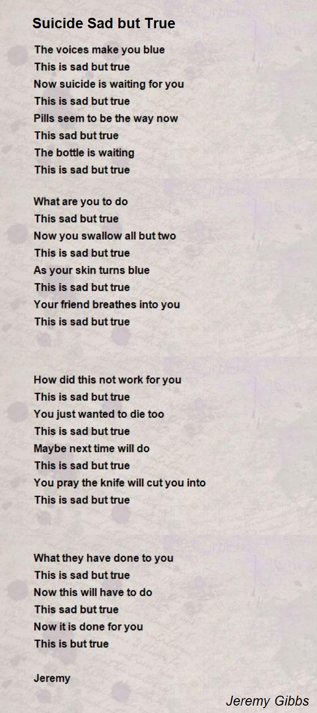 Images of Sad Poems About Suicide - #rock-cafe