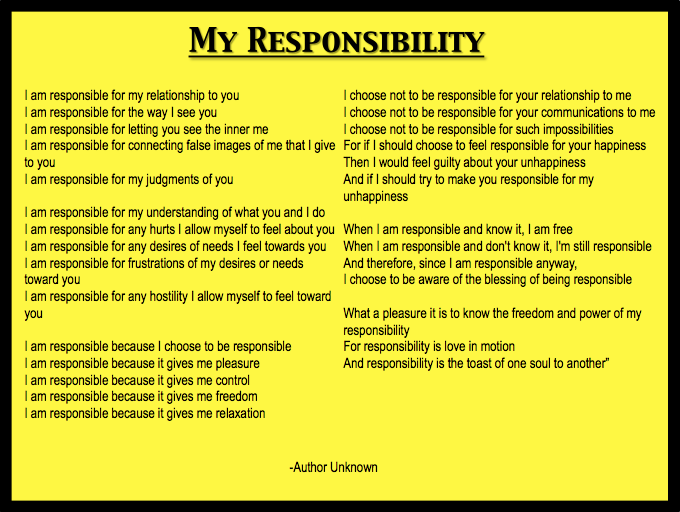 essay on responsibility towards school The responsibility of the school according to the curriculum, the education act, and the anti-discrimination act, the school has a responsibility to ensure that no.