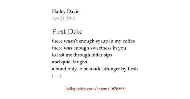 First started dating poems
