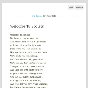 Society Poems