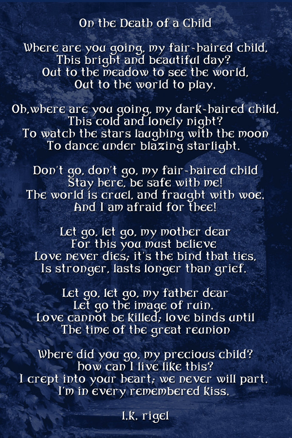Death Of A Child Poems
