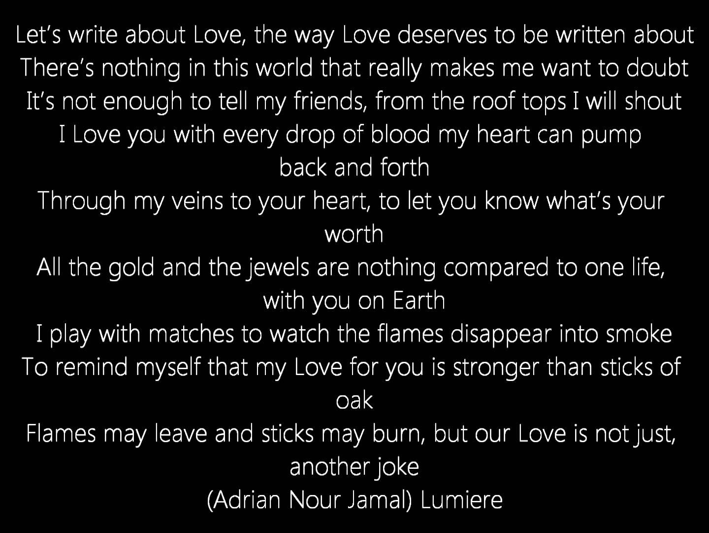 Long distance Poems