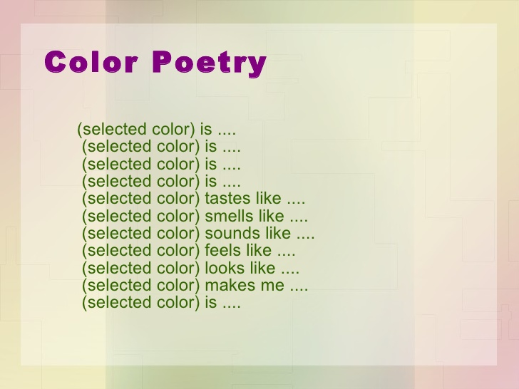 How to write a color poem   classroom helpers   poems, color poem.