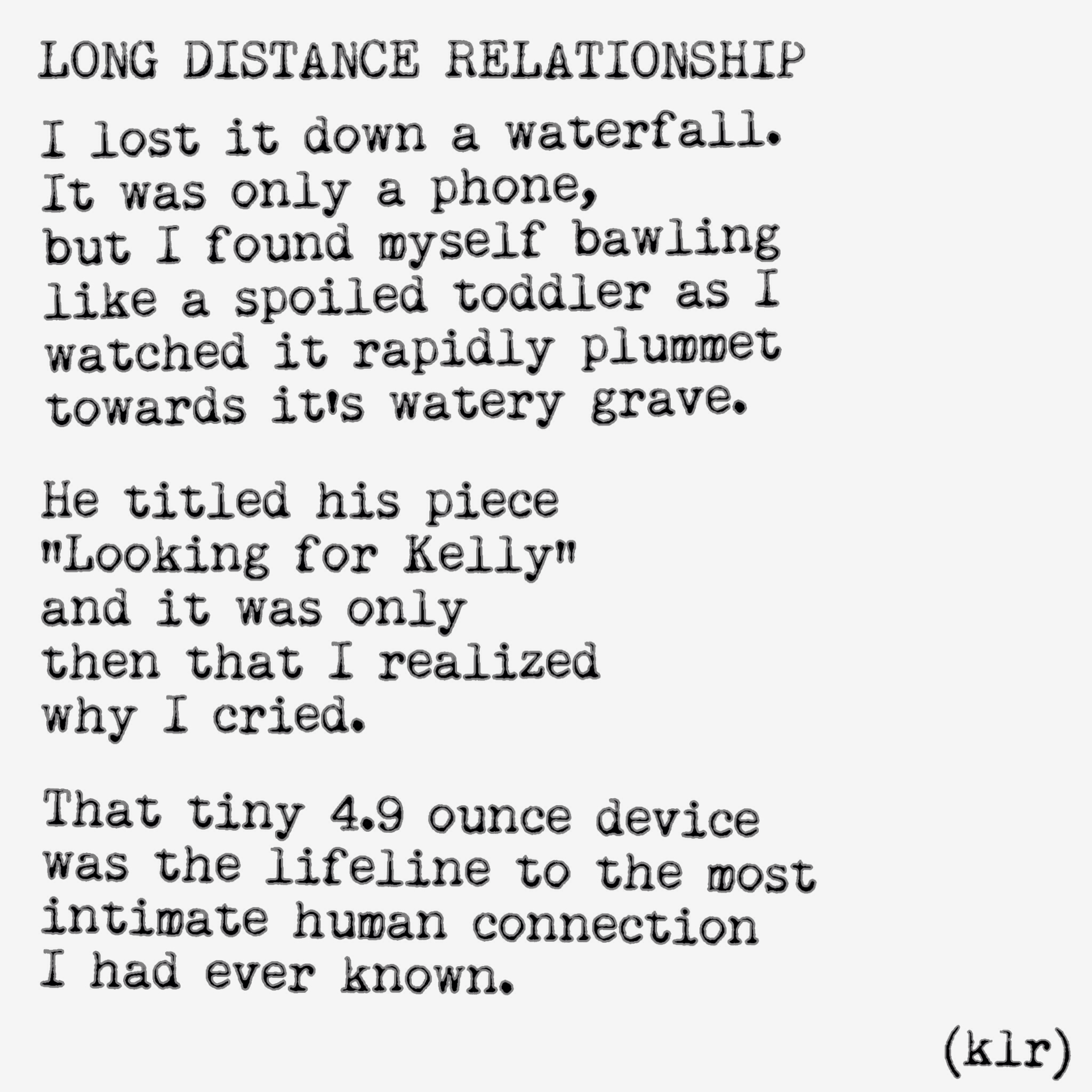 Poems about long distance relationship quotes