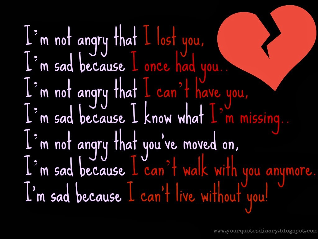I Can T Live Without You Poems