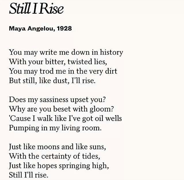 an analysis of the personification in maya angelous poem on the pulse of morning On the pulse of morning is a famous poem by maya angelou (also referred to as the rock cries out to us today) a rock, a river, a tree hosts to species long since departed, mark the mastodon.