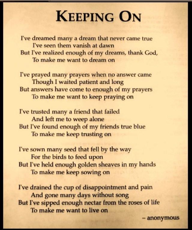 God inspirational Poems
