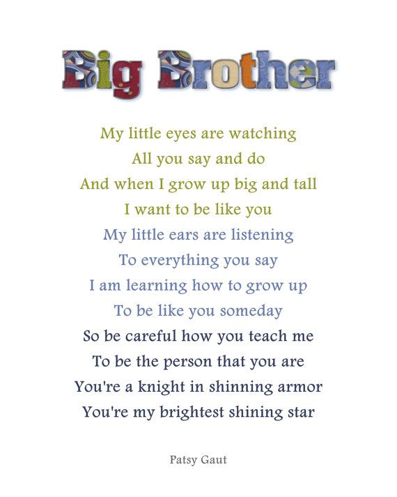 Big brother Poems