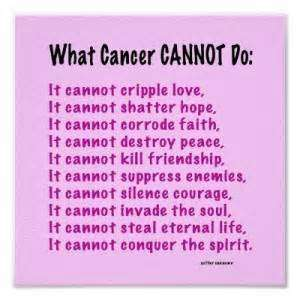 Fresh What Cancer Cannot Do Quote