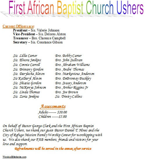 photograph about Free Printable Church Usher Hand Signals identified as Church usher Poems