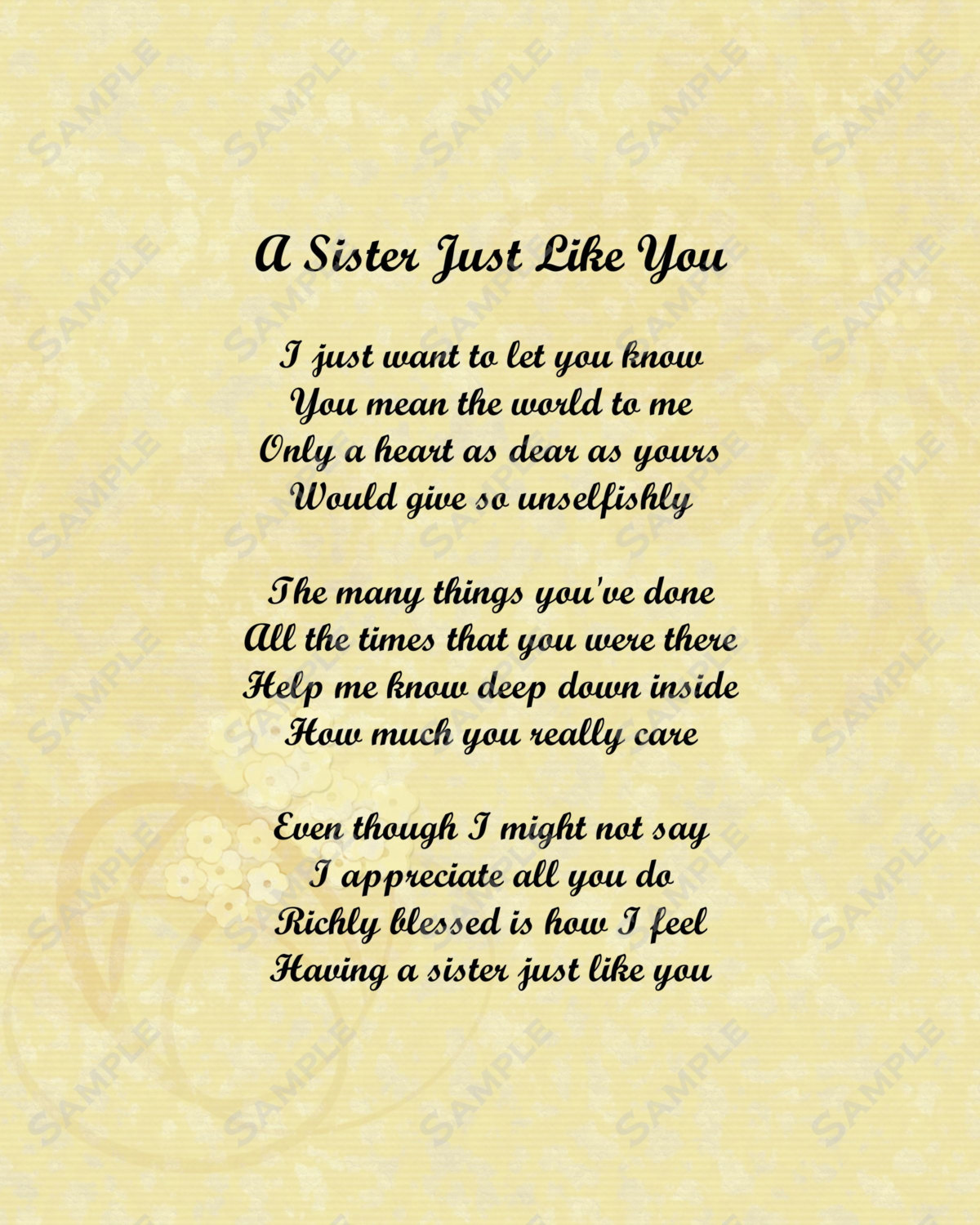 I Was A Son A Brother Like You A Younger: I Love My Sister Poems