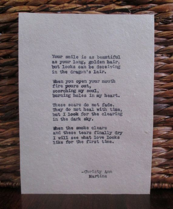 Poems about verbal abuse