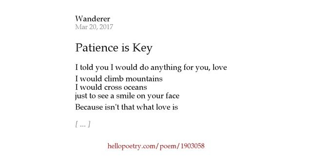 Patience Poems