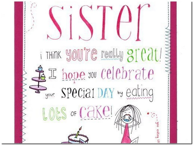funny happy birthday s for sister reference