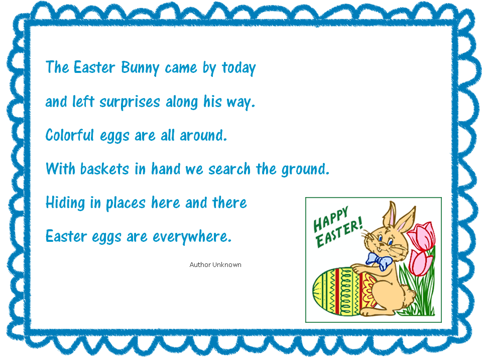 Funny easter poems negle Choice Image