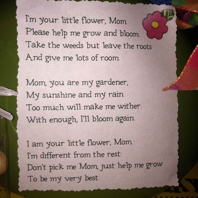 just because poems for mom