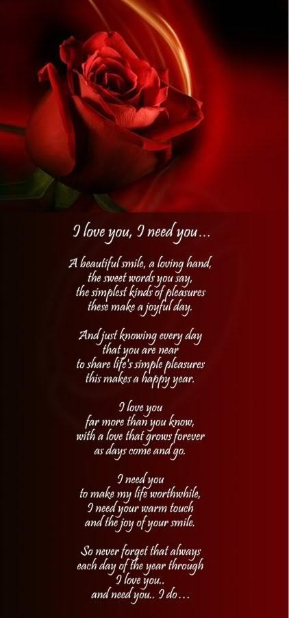 My Love For You Poems