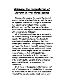 an interpretation of john keats to autumn essay John keats and to autumn to autumn is one of the most popular poems in the english speaking world and is considered by many critics to be one of keats's finest creations it is a shortened ode, a formal poem of meditative reflection.
