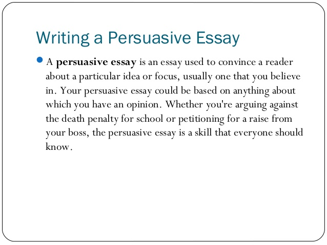writing essay - persuasive - essential job skills Narrative essay examples to follow in your writing good narrative essay examples should tell some story concerning a person's life, thoughts, experience, and feelings sometimes this type of essay writing may be underestimated by students, thought of as unimportant or not scholarly enough.